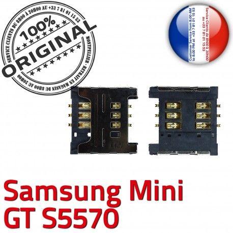 Samsung Galaxy Mini GT s5570 S SIM à SLOT Connecteur Dorés Connector Reader Lecteur Card ORIGINAL Contacts Carte OR souder Pins