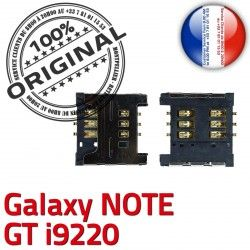 Note SIM Reader Pins à souder Carte Connector Card S Connecteur Galaxy GT Lecteur Samsung SLOT Contacts ORIGINAL i9220 Dorés