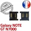 ORIGINAL Samsung Galaxy Note GT N7000 Lecteur Carte SIM à souder Connecteur Contacts Dorés Reader Connector SLOT Pins Card