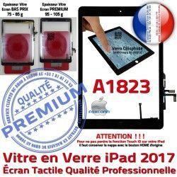 Ecran IC HOME AIR Noir Adhésif Qualité Nappe Réparation Verre A1823 Tactile iPad Monté Oléophobe Tablette Caméra Vitre Fixation