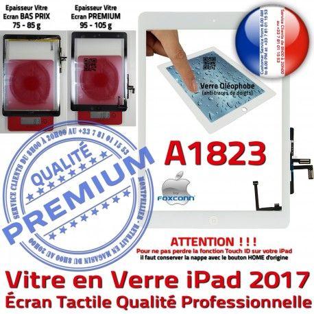 iPad AIR A1823 Blanc Tablette Nappe Caméra Fixation Verre Oléophobe Réparation HOME Monté Ecran Qualité IC Tactile Adhésif Vitre