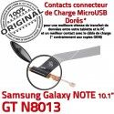Samsung Galaxy NOTE GT-N8013 Ch Nappe MicroUSB Qualité Contacts ORIGINAL Réparation Dorés Charge Connecteur Chargeur de OFFICIELLE