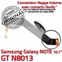 GT-N8013 Micro USB NOTE Charge N8013 Samsung ORIGINAL Réparation de Dorés Connecteur MicroUSB OFFICIELLE Qualité Nappe Galaxy Contacts GT Chargeur