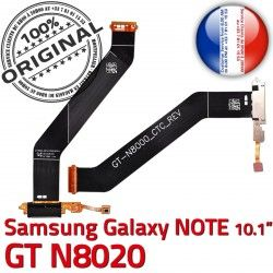 Nappe Galaxy GT Connecteur Chargeur Qualité GT-N8020 de Charge USB N8020 OFFICIELLE Contacts Micro ORIGINAL Samsung MicroUSB Dorés NOTE Réparation
