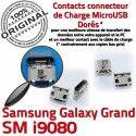 Samsung Galaxy i9080 USB de Pins Connecteur Dock Prise Micro Qualité ORIGINAL charge Chargeur souder à Grand GT Connector Dorés