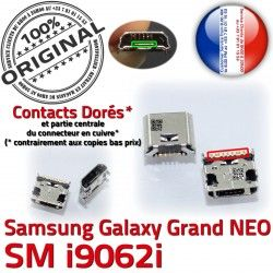 Qualité GT Micro souder Chargeur i9062i USB Connector Prise à Dock NEO Grand Samsung Galaxy ORIGINAL Connecteur Pin Doré charge