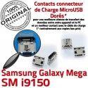 Samsung Galaxy i9150 USB de charge Prise ORIGINAL Connector Chargeur Dorés souder Qualité Pins Connecteur Duos Micro Mega à GT
