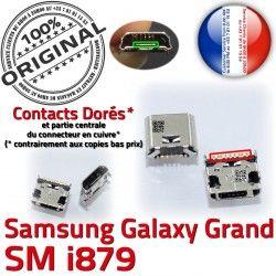 MicroUSB Samsung Qualité Connector Grand SLOT Dock USB GT-i879 Fiche Prise Dorés Pins de Galaxy à Chargeur souder charge ORIGINAL