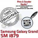 Samsung Galaxy i879 USB à Grand de Dock charge Pins ORIGINAL Prise souder Micro Chargeur Connecteur Dorés GT Connector Qualité