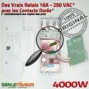 Programmateur Ouverture Jour 16A DIN Tableau Digital Programmation électrique Electronique Journalière 4000W Portail Minuterie Automatique Rail 4kW