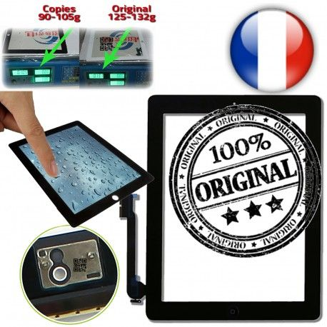 iPad4 Apple A1458 A1459 A1460 P1 Vitres Tactiles plus Home Adhésif Verre Prémontés Originale 10 4 Ecrans Bouton Oléophobe iPad en épais Multi-Touch Version