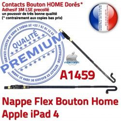 iPad4 Nappe iPad Autocollant Bouton Apple Qualité 4 Poussoir Châssis Tablette A1459 Accueil Home Flex Remplacement Réparation Adhésif
