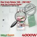 Programmateur Système Alarme 16A Minuterie 4000W Programmation Automatique 4kW DIN Digital Rail Tableau Electronique Journalière électrique