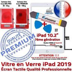 HOME Tactile A2200 2019 A2197 B A2198 Outil Nappe Adhésif Verre Qualité Réparation Bouton Tablette Blanche PACK iPad Precollé Démontage PREMIUM Vitre KIT