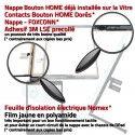 iPad 2019 A2200 Blanc Qualité Verre Réparation Caméra Fixation Tablette Ecran Adhésif Oléophobe Monté Tactile HOME Vitre Nappe
