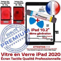 iPad A2270 2020 Verre Adhésif Vitre Qualité N Precollé Réparation Outil PREMIUM KIT Nappe A2429 PACK A2430 HOME Tablette Bouton Tactile Noire Démontage A2428
