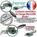 Honor 7X JACK Microphone PORT Qualité Branchement Chargeur Micro Câble USB Antenne C ORIGINAL Charge Téléphone OFFICIELLE Nappe