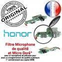 Honor 7X JACK USB C Branchement OFFICIELLE Microphone PORT Chargeur Charge Câble Antenne Micro Téléphone Qualité Nappe ORIGINAL