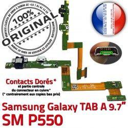 USB A SM-P550 de SM Charge Galaxy ORIGINAL TAB Chargeur P550 MicroUSB Réparation Connecteur Contact Micro OFFICIELLE Doré Qualité Samsung Nappe