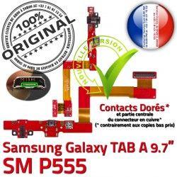 Nappe de ORIGINAL Doré Réparation Micro P555 C Samsung Chargeur Charge USB A Contacts Qualité TAB Galaxy SM-P555 Connecteur SM OFFICIELLE