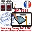 Samsung Galaxy SM-T531 Tab4 N en Qualité Vitre Tactile Supérieure PREMIUM 10.1 Assemblée TAB4 Prémonté Adhésif Noire Ecran LCD Verre