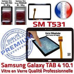 Supérieure Samsung N Tactile Qualité SM-T531 en Ecran 4 LCD Noire T531 Assemblée PREMIUM TAB Galaxy SM Adhésif 10.1 Prémonté Verre Vitre TAB4