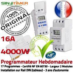 DIN 4000W Electronique Système Automatique Tableau Programmation électrique Contacteur 16A 4kW Rail Journalière Digital Vidéo Commande Vidéosurveillance