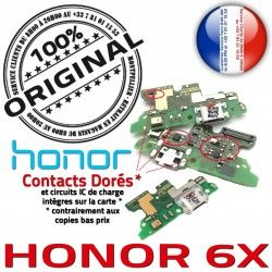 Prise 6X Câble Charge ORIGINAL Honor JACK RESEAU Antenne OFFICIELLE Micro USB Microphone Téléphone Nappe Qualité Chargeur PORT