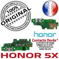 Téléphone Nappe Qualité PORT OFFICIELLE Antenne Charge ORIGINAL Câble Prise Chargeur Branchement USB 5X Micro Microphone Honor