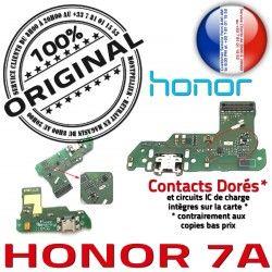 Prise PORT Charge OFFICIELLE Nappe ORIGINAL Chargeur USB Honor 7A Qualité RESEAU Antenne Connecteur Huawei Microphone Téléphone