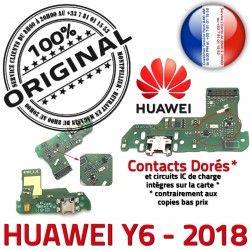 JACK Téléphone PORT USB Chargeur Alim Y6 Charge Alimentation Qualité Micro Prise Microphone Huawei Nappe 2018 ORIGINAL Antenne Câble