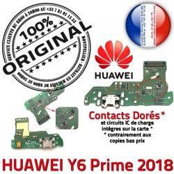 Alim Câble USB Charge Téléphone Micro Microphone Nappe JACK Y6 Prime Chargeur Huawei 2018 Prise Antenne PORT ORIGINAL Alimentation