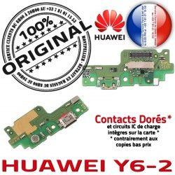 Antenne OFFICIELLE Qualité PORT USB Chargeur Charge Y6-2 Téléphone Connecteur Microphone ORIGINAL Prise Nappe RESEAU Huawei