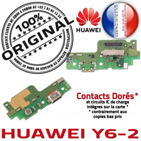 Huawei Y6-2 Antenne SMA PORT Chargeur OFFICIELLE Connecteur Nappe ORIGINAL GSM Prise Téléphone Charge Qualité Microphone USB