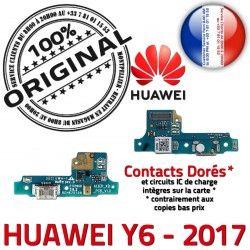 Charge Prise Micro de Chargeur Antenne Microphone JACK Câble RESEAU Y6 Nappe USB 2017 Huawei Connecteur ORIGINAL Qualité PORT