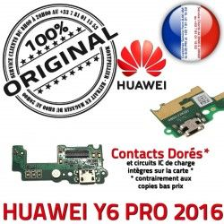 Y6 OFFICIELLE RESEAU Microphone 2016 Téléphone PRO Charge ORIGINAL Huawei Connecteur Nappe Qualité Antenne USB Chargeur Prise