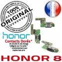 Honor 8 USB Type-C Chargeur Câble RESEAU ORIGINAL Connecteur Qualité Microphone Charge OFFICIELLE Micro Prise Nappe Antenne de