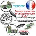 Honor 8 USB Type-C Antenne de RESEAU Connecteur Nappe Charge Chargeur Câble Prise Micro OFFICIELLE Microphone ORIGINAL Qualité