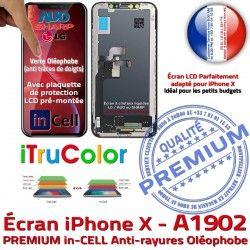 Liquides A1902 Tactile Cristaux Vitre X Multi-Touch Écran iTrueColor iPhone PREMIUM LCD Apple inCELL Touch in-CELL Remplacement Verre