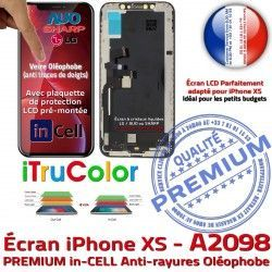 Touch in inCELL Verre PREMIUM Écran Super SmartPhone Apple Qualité in-CELL LCD 3D A2098 Tactile HD 5.8 HDR Retina Réparation iTrueColor iPhone