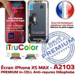 A2103 LCD 3D Cristaux SmartPhone HDR Apple Touch iPhone Verre Écran Châssis Complet Liquides inCELL XS PREMIUM sur Multi-Touch MAX Oléop