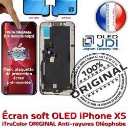 KIT Remplacement Verre Qualité 3D iPhone Touch Oléophobe Vitre Tactile Réparation HDR Apple XS Multi-Touch ORIGINAL OLED soft