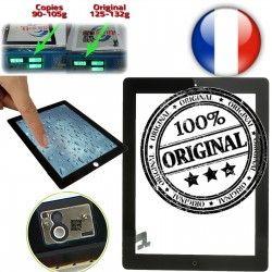 Home ORIGINAL Apple Adhésif Multi Qualité ON Frontale Touch iPad Noir Ultraviolet Vitre A1397 A1396 2 Caméra iPad2 Monté Tactile A1395 Fixation Verre Oléophobe