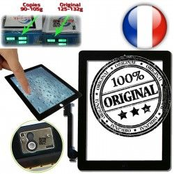 Caméra Tactile Vitre iPad4 Monté Apple iPad Ultraviolet Multi Home A1458 Fixation Frontale 4 A1460 Qualité Verre Noir ON Touch A1459 Oléophobe Adhésif ORIGINAL