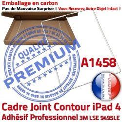 Vitre Apple 4 A1458 Autocollant Tablette ABS Réparation Blanc Adhésif Joint iPad Cadre Plastique Contour Châssis Tactile Ecran B