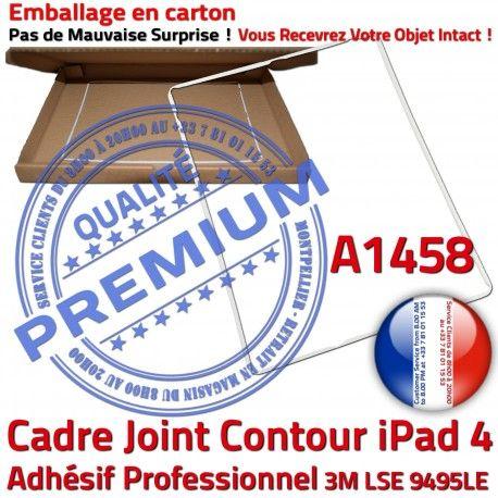 Joint Plastique iPad 4 A1458 B Tactile Châssis Tablette Vitre Ecran Blanc Apple Réparation ABS Cadre Adhésif Contour Autocollant