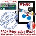 PACK iPad4 A1460 N Démontage Tactile Réparation Adhésif 4 PREMIUM HOME Noire Oléophobe Precollé Outils Qualité Vitre Bouton KIT iPad Verre