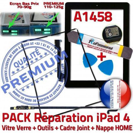 PACK A1458 iLAME Joint Nappe N Noire Adhésif Verre Réparation iPad4 Precollé Tactile Outils Apple KIT Cadre HOME Vitre Bouton Tablette