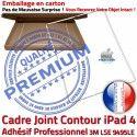 PACK A1460 iLAME Joint Nappe B Precollé Verre Outils HOME Apple Vitre Réparation Adhésif iPad4 Blanche Tactile Tablette Bouton PREMIUM