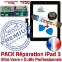 PACK iPad3 A1403 A1416 A1430 N Bouton iPad HOME 3 Precollé Outils Tablette Noire Qualité Tactile Démontage Réparation Vitre KIT PREMIUM Verre Adhésif Oléophobe